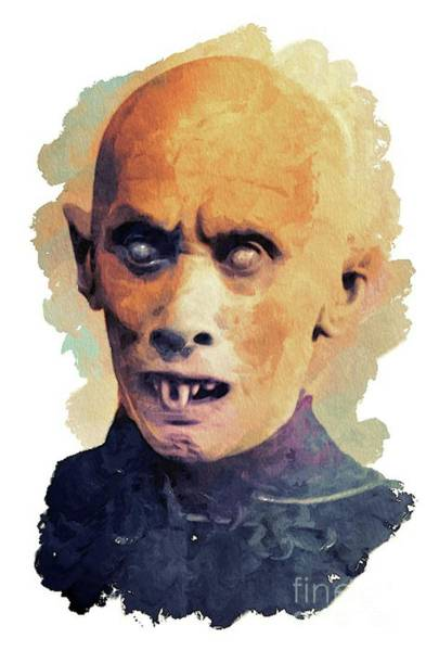 Dracula Painting - Nosferatu by Mary Bassett