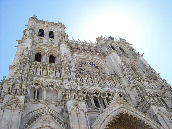 Photograph - Notre-dame D'amiens by Mary Mikawoz