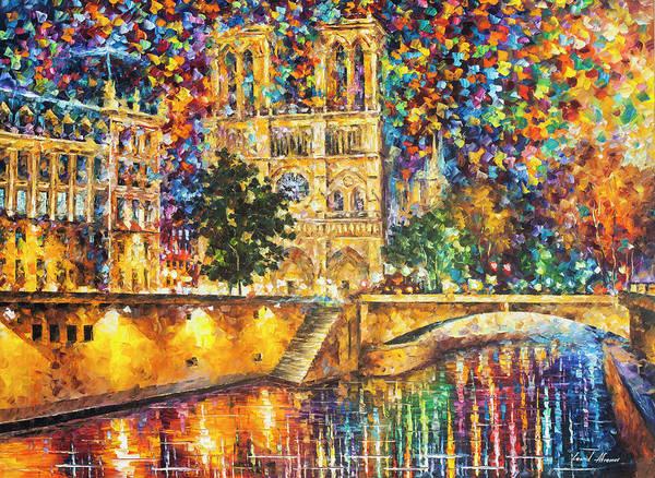Wall Art - Painting - Notre Dame De Paris  by Leonid Afremov