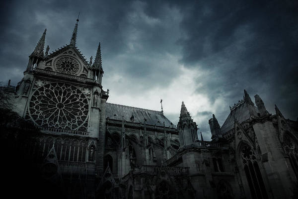 Atmospheric Photograph - Notre Dame De Paris by Cambion Art