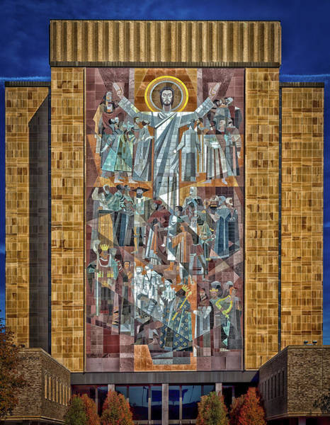 Wall Art - Photograph - Notre Dame's Touchdown Jesus by Mountain Dreams