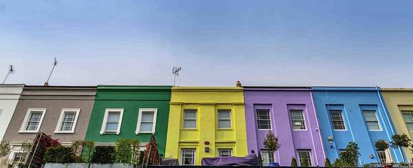 Photograph - Notting Hill Houses, London by Alexandre Rotenberg