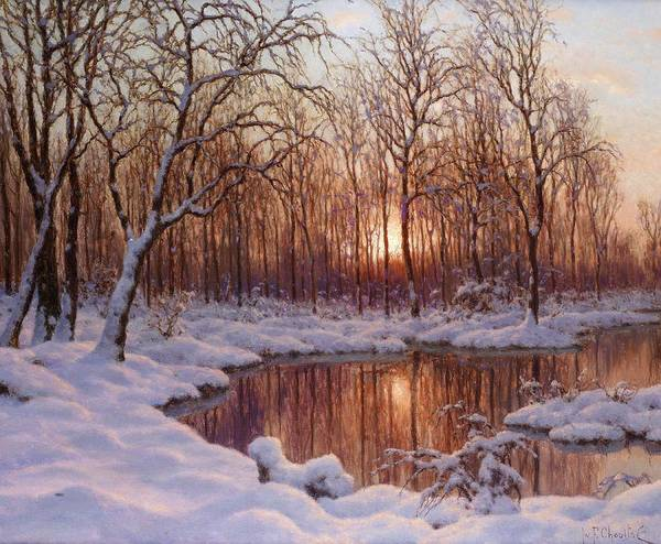 Painting - November by Ivan Fedorovich Choultse