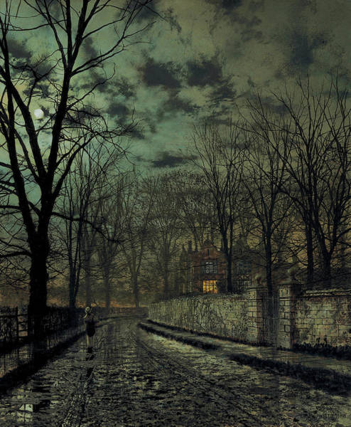 Painting - November by John Atkinson Grimshaw