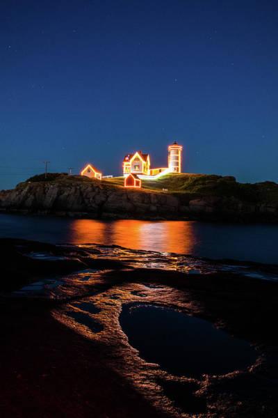 Photograph - Nubble Lighthouse, York Maine by Jeff Folger