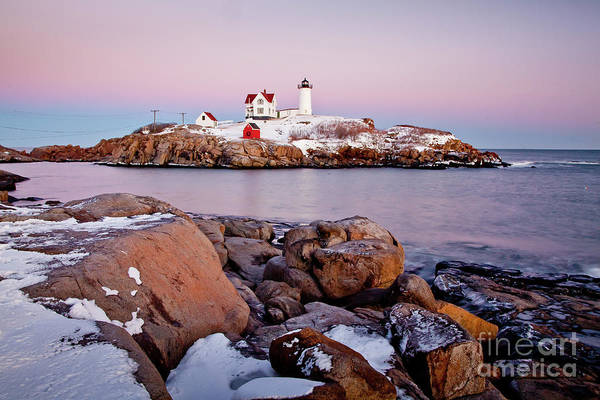 Wall Art - Photograph - Nubble Winter Dusk by Susan Cole Kelly
