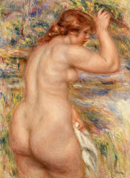 Wall Art - Painting - Nude In A Landscape by Pierre-Auguste Renoir