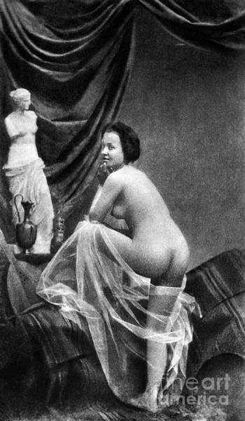 Painting - Nude Posing, 1855 by Granger