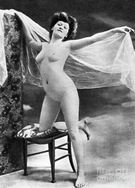Painting - Nude Posing, C1900 by Granger