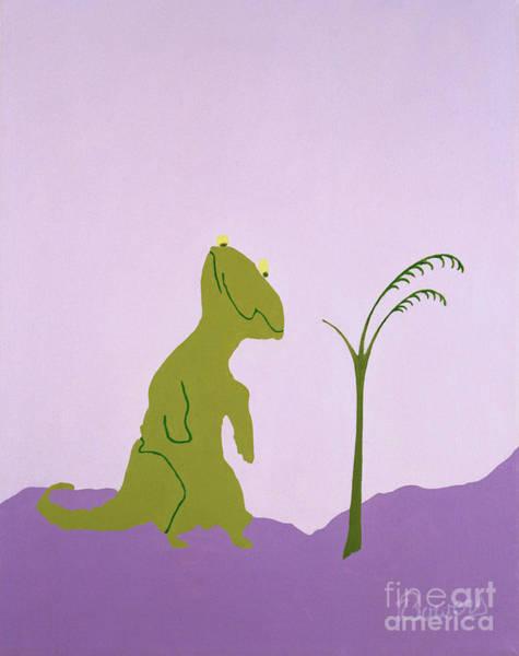 Painting - Nudgeandhumosaurus by John Bowers
