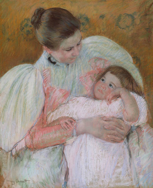 Pastel - Nurse And Child by Mary Cassatt