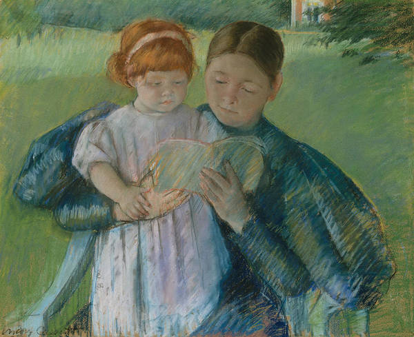 Pastel - Nurse Reading To A Little Girl by Mary Cassatt