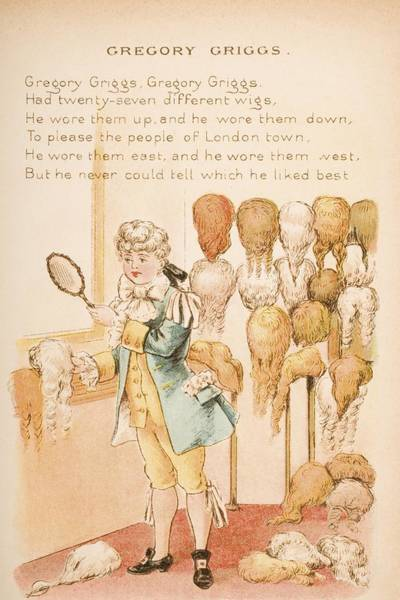Mother Goose Drawing - Nursery Rhyme And Illustration Of by Vintage Design Pics