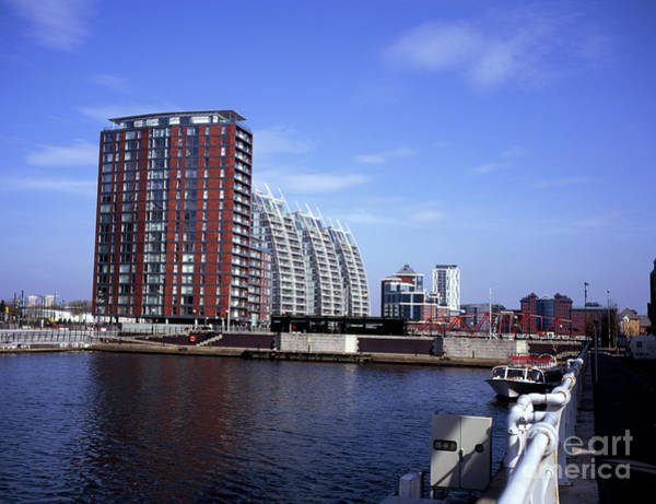 Greater Manchester Wall Art - Photograph - Nv Buildings Modern Apartment Blocks By Huron Basin Salford Quays Greater Manchester England by Michael Walters