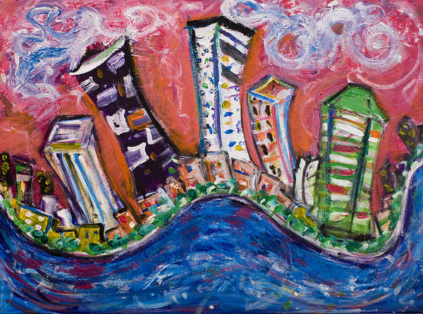 Wall Art - Painting - Nyc Impressions 3 by Jason Gluskin