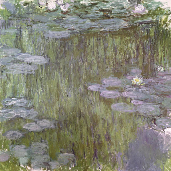 1918 Painting - Nympheas At Giverny by Claude Monet