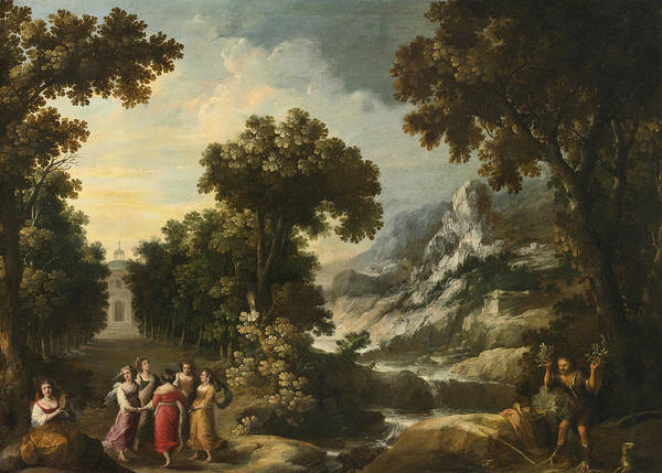 Painting - Nymphs Turning The Apulian Shepherd Into An Olive Tree by Francisco Collantes