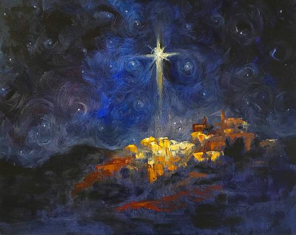 Cantrell Wall Art - Painting - O Little Town Of Bethlehem by Carol Sheli Cantrell