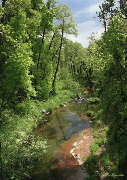 Oak Creek Canyon Painting - Oak Creek by Ellen Henneke