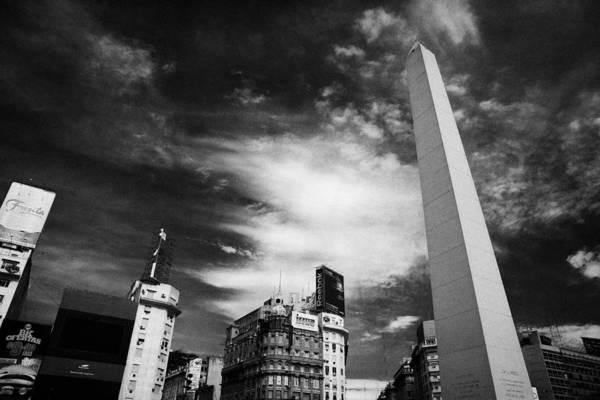 Wall Art - Photograph - Obelisco Obelisk In Plaza De La Republica Capital Federal Buenos Aires Republic Of Argentina by Joe Fox