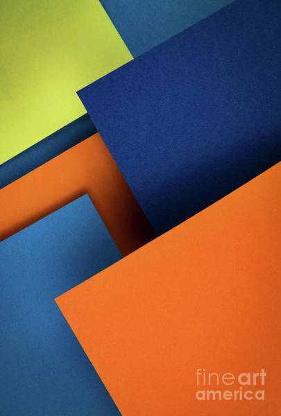 Wall Art - Photograph - Oblique Composition With Colored Papers by Jozef Jankola