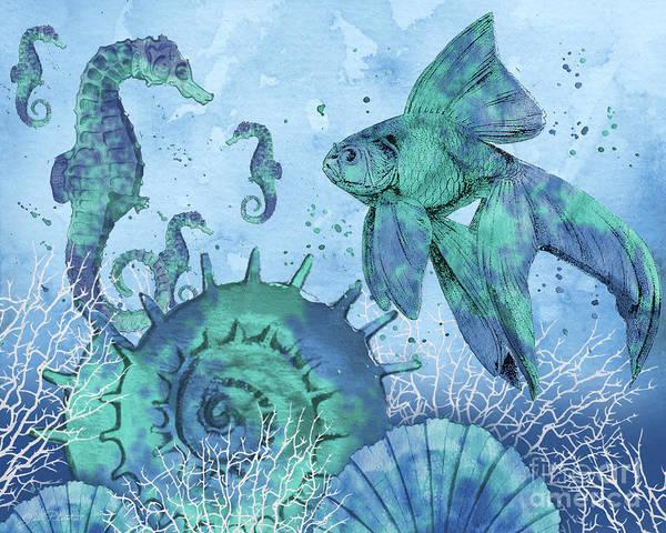 Wall Art - Painting - Ocean Blues-b by Jean Plout