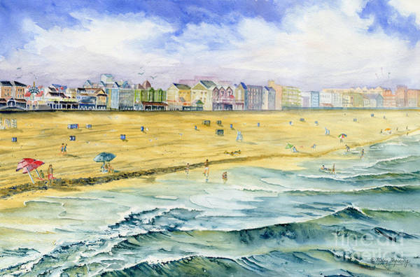 Ocean City Painting - Ocean City Maryland by Melly Terpening