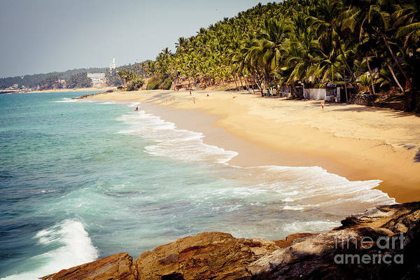 Photograph - Ocean Coast With Sand And Palm Trees by Raimond Klavins