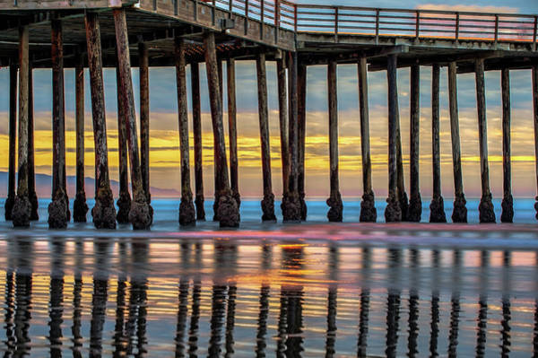 Photograph - Ocean Pier At Sunset - Nautical Prints by Gregory Ballos
