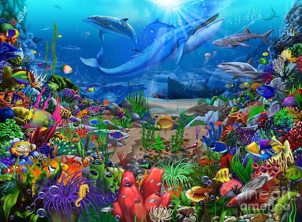 Shipwreck Digital Art - Ocean Wonders by MGL Meiklejohn Graphics Licensing