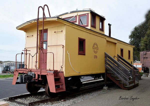 Wall Art - Photograph - Oceano Depot Museum Caboose  by Barbara Snyder