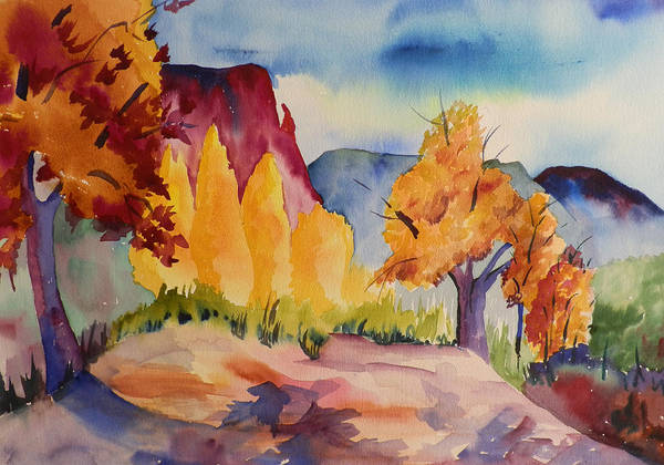 Elwood Blues Painting - October At Ghost Ranch by Jann Elwood