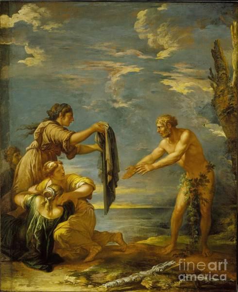 Odysseus Painting - Odysseus And Nausicaa by MotionAge Designs