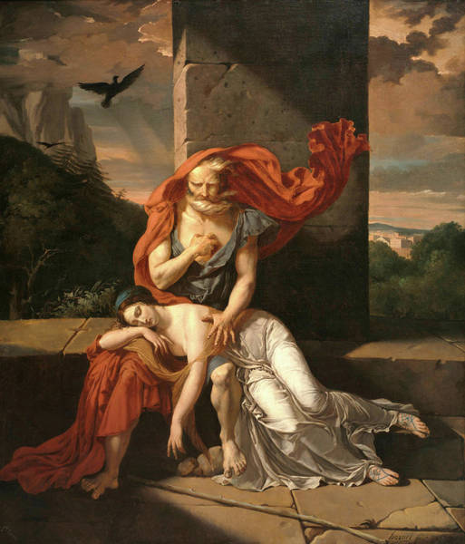Wall Art - Painting - Oedipus At Colonus by Fulchran-Jean Harriet