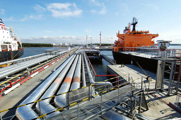 Wall Art - Photograph - Oil Pipelines And Tankers by Ria Novosti