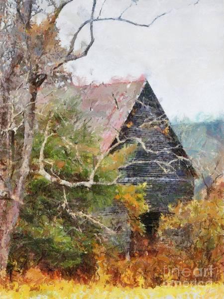 Digital Art - Old Barn At Cades Cove by Todd Blanchard