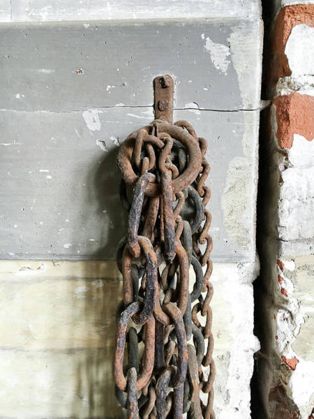 Oxidised Photograph - Old Chain by Tom Gowanlock