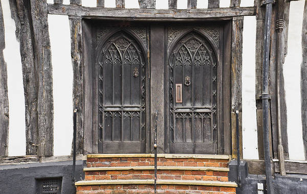 Archway Photograph - Old Doors by Tom Gowanlock