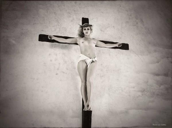 Wall Art - Photograph - Old Female Crucifix by Ramon Martinez