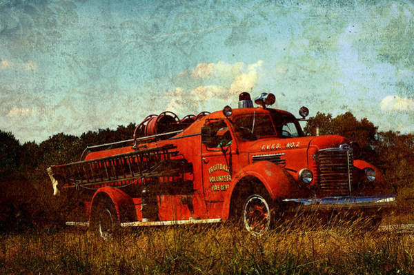 Fire Department Photograph - Old Fire Truck by Off The Beaten Path Photography - Andrew Alexander