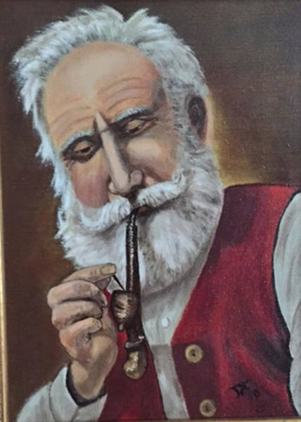 Painting - Old German With Pipe by Donald Paczynski