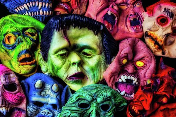 Wall Art - Photograph - Old Halloween Masks by Garry Gay