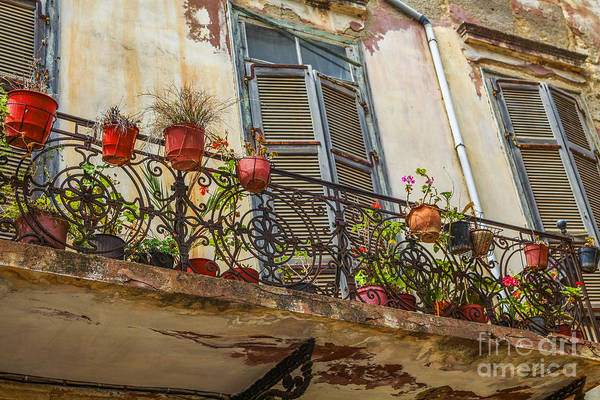 Wall Art - Photograph - Old House With Shutters And Balcony by Patricia Hofmeester