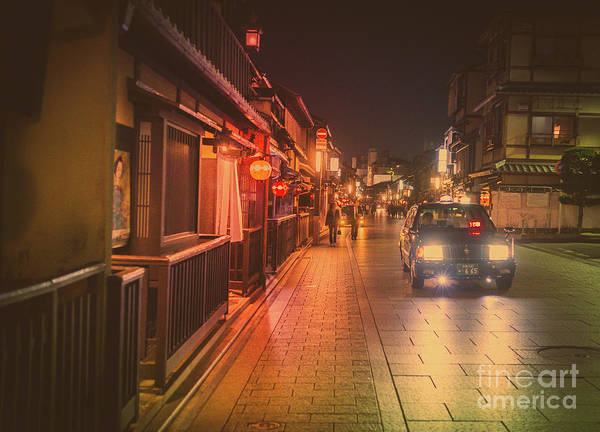 Art Print featuring the photograph Old Kyoto, Gion Japan by Perry Rodriguez
