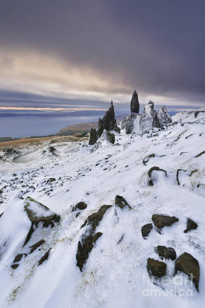 Snow Man Photograph - Old Man Of Storr by Rod McLean