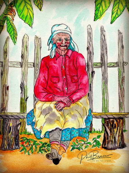 Painting - Old Migrant Worker, Resting, Arcadia, Florida 1975 by Philip Bracco