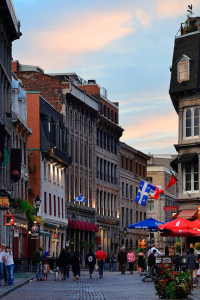 Photograph - Old Montreal  by Songquan Deng