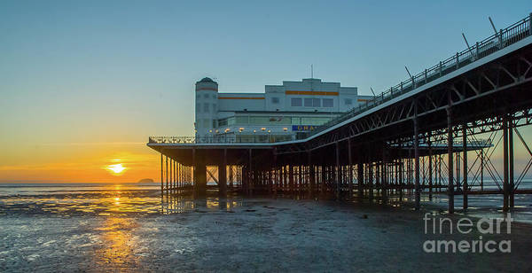 Photograph - Old Pier, Weston Super Mare by Colin Rayner
