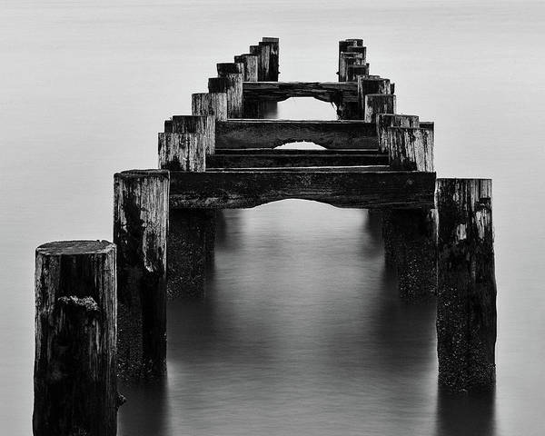 Photograph - Walnut Beach Old Pilings  by John Vose
