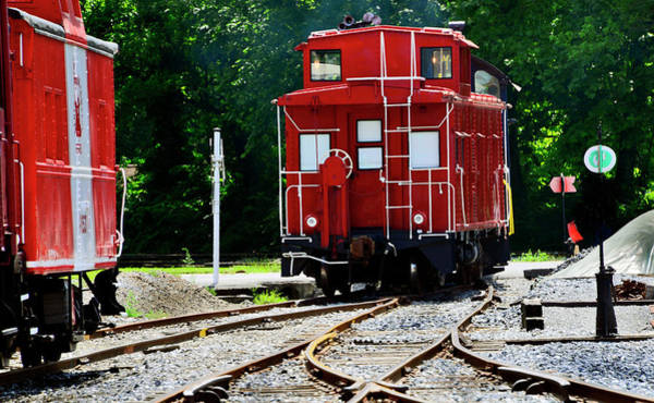 Wall Art - Photograph - Old Red Caboose by Paul W Faust - Impressions of Light